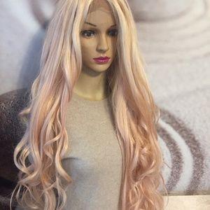 rose quarts pink lace wig
